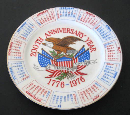 200th Anniversary Year 1776-1976 Collector Plate VTG