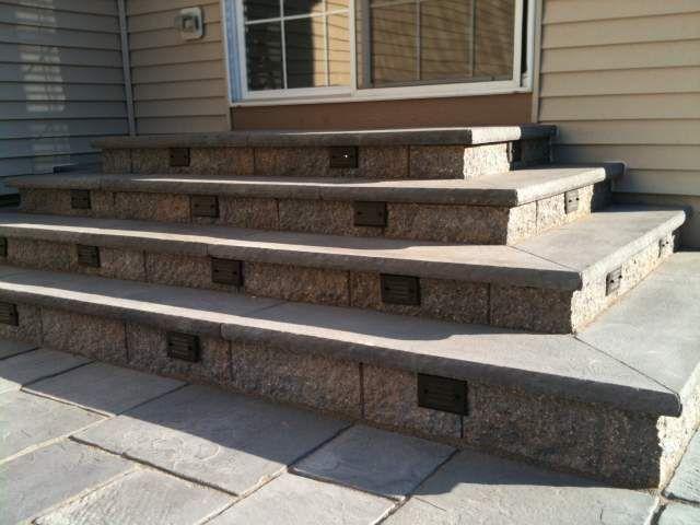 Patio Steps Design Patio Steps With Bluestone Treads Tubs