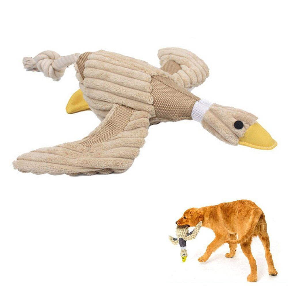 Geekercity Pet Dog Chew Toys Dental Teaser Rope Duck Cotton Squeaky Toy Teeth Cleaning Plush Nontoxic Bite-resistant Dog Play Toy for Pet Training Playing Chewing *** Read more  at the image link. (This is an affiliate link and I receive a commission for the sales)
