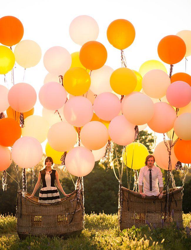 Vintage Hot Air Balloon Wedding Inspiration Wedding Backdrops