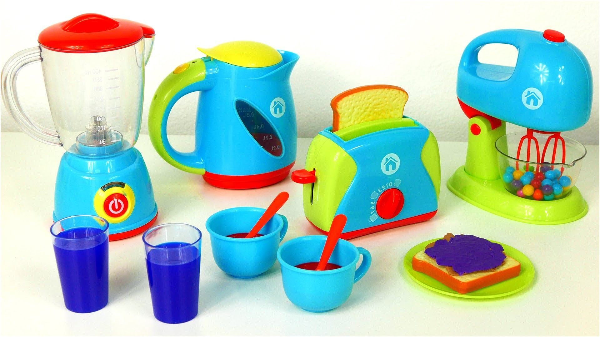 Just Like Home Toy Set : Just like home kitchen appliance set playset blender mixer toaster