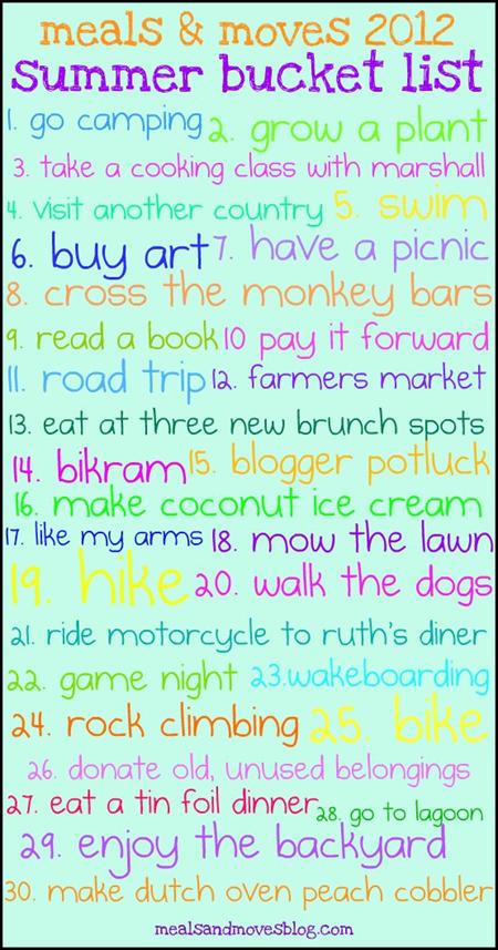 i need to make a summer bucket list :)