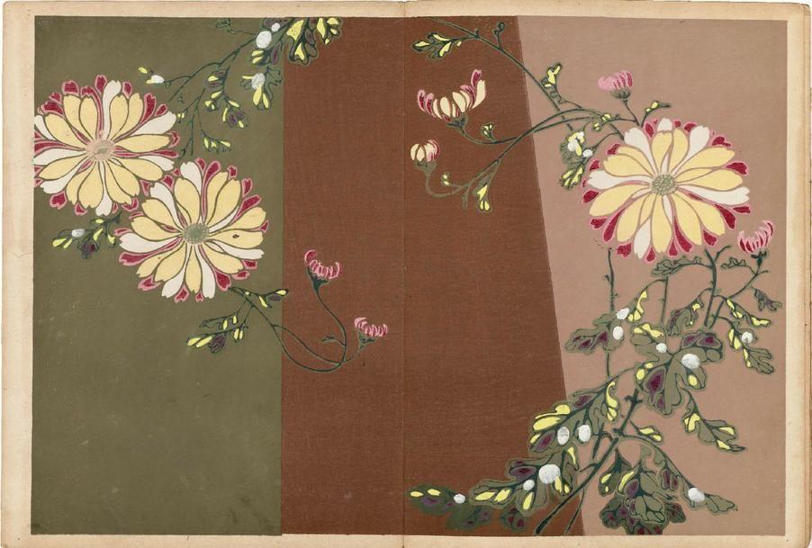 LE JAPON ARTISTIQUE Japanese Floral Pattern Design in the Art Nouveau Era