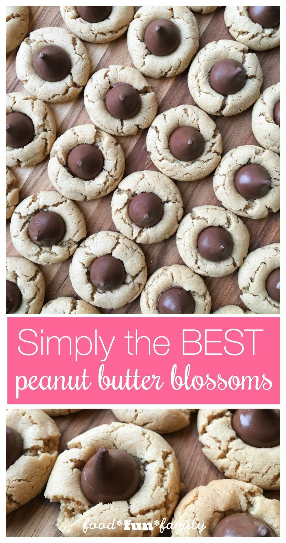 The BEST Peanut Butter Blossoms Cookies