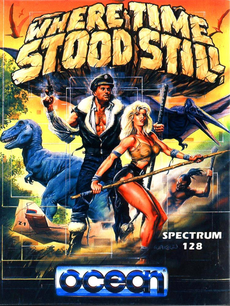 80s computer game cover Where Time Stood Still