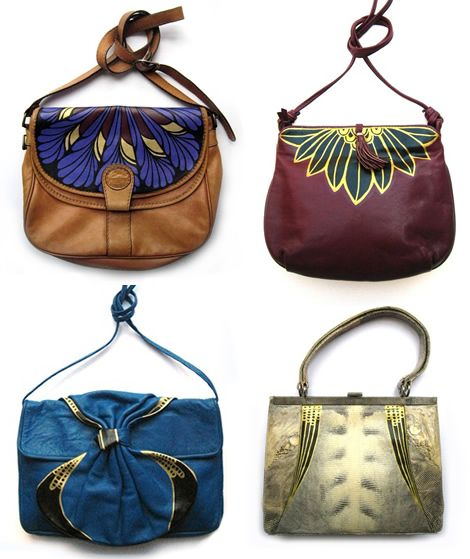 Vivien Cheng S Hand Painted Vintage Bags I Love How Her Designs Work With The Original Design Of