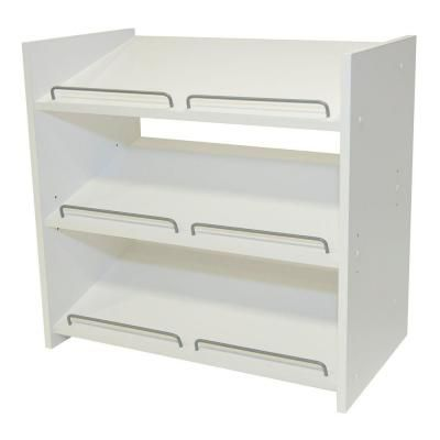 Martha Stewart Living Stackable 24 In H X 25 In W Classic White Shoe Storage Ws1 The Home Depot Shoe Storage White Shoe Storage Closet Kits