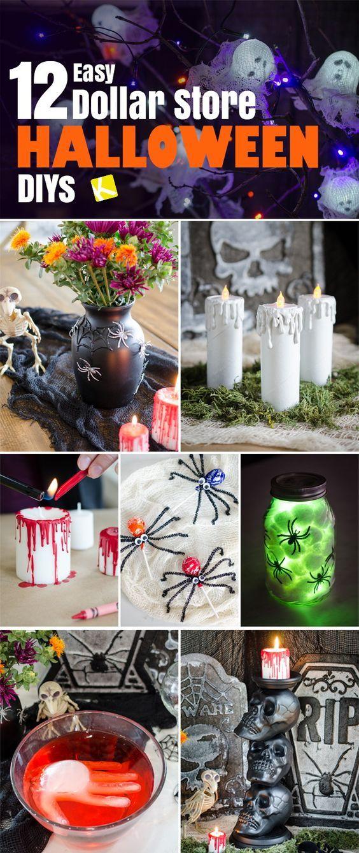 12 Ridiculously Easy Dollar Store Halloween DIYs Pinterest Diy - halloween diy decoration