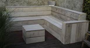 Afbeeldingsresultaat voor tuinbank steigerhout maken