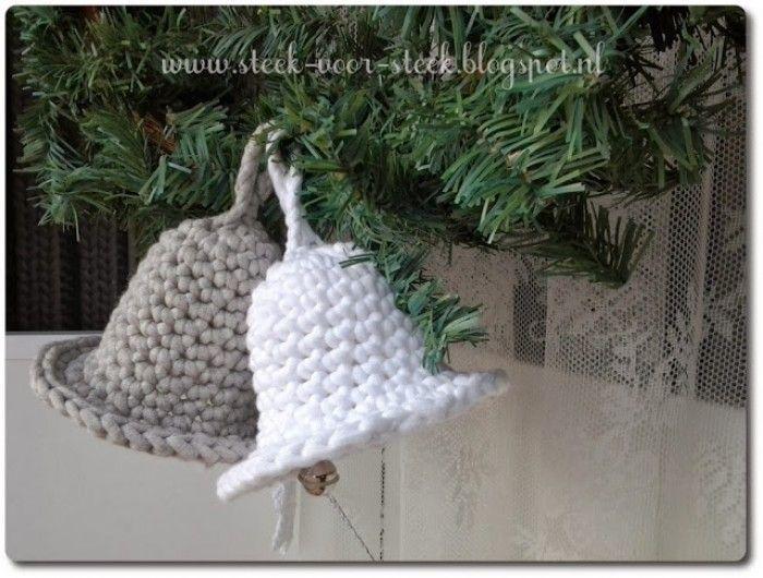 Kerstklokken Van Big Cotton Gehaakt Haken