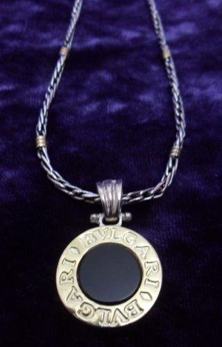 68eab7faca03 Cadena De Plata Con Detalles En Oro Y Dije Bvlgari (bulgari) en venta en