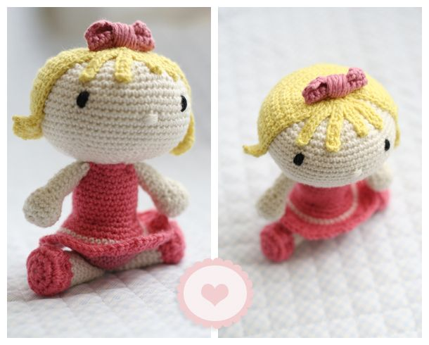 some chic stuff: Una muñeca de amigurumi linda, linda, linda