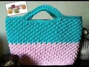 Crochet Paniersac Facile Part1 Youtube Carteras De