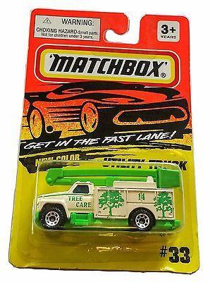 MOC 1993 Matchbox Superfast Cream/ Mint Green Utility Truck #33 Tree Care 14
