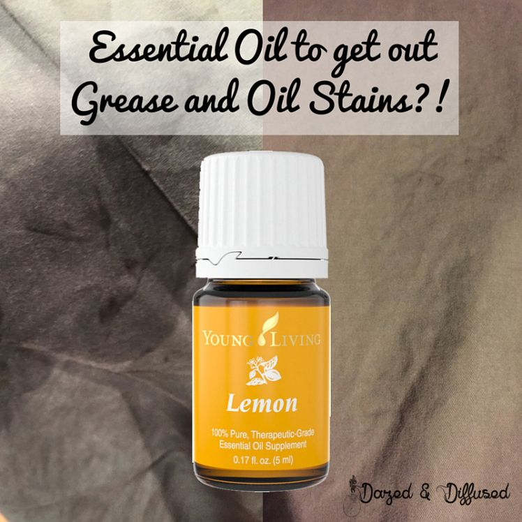 Essential Oil to get out Oil Stains?!