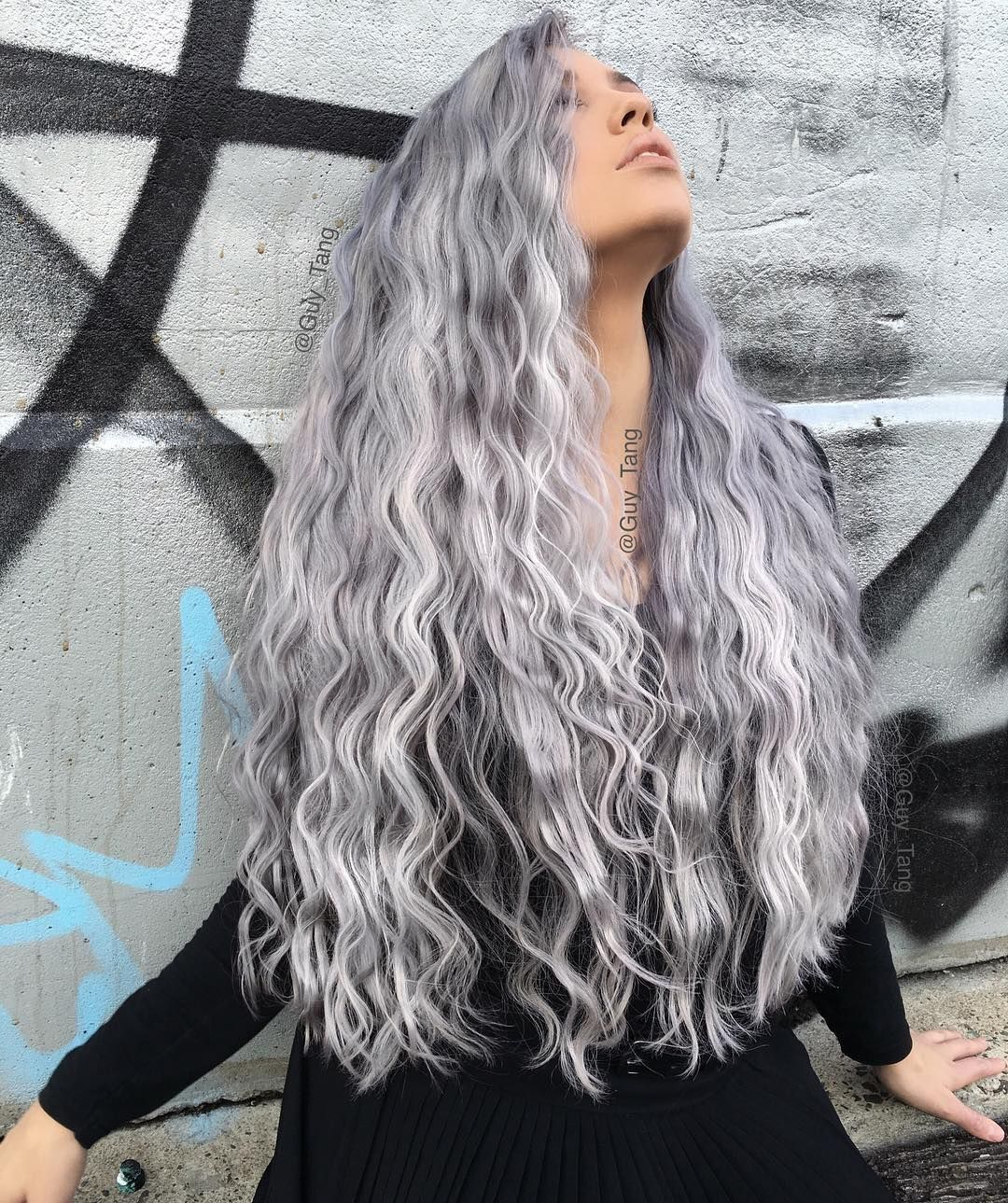 Pin By Cindy Lahde On Hair Hair Hair Hair Styles Grey Curly Hair Long Gray Hair
