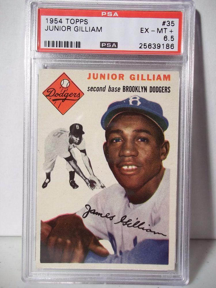 1954 Topps Junior Gilliam Graded Ex Mt 65 Baseball Card 35