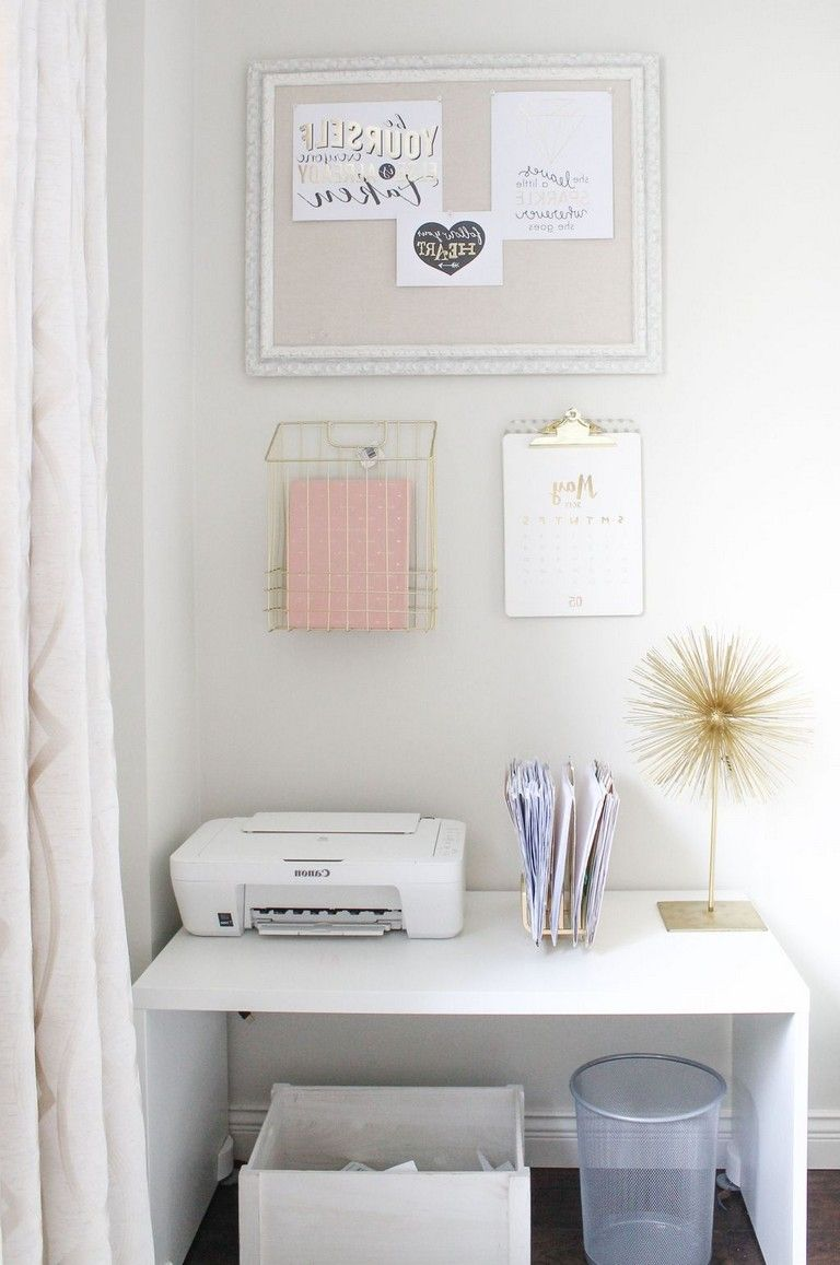 30 Exciting Diy Home Office Desk Ideas In 2020 Feminine Home