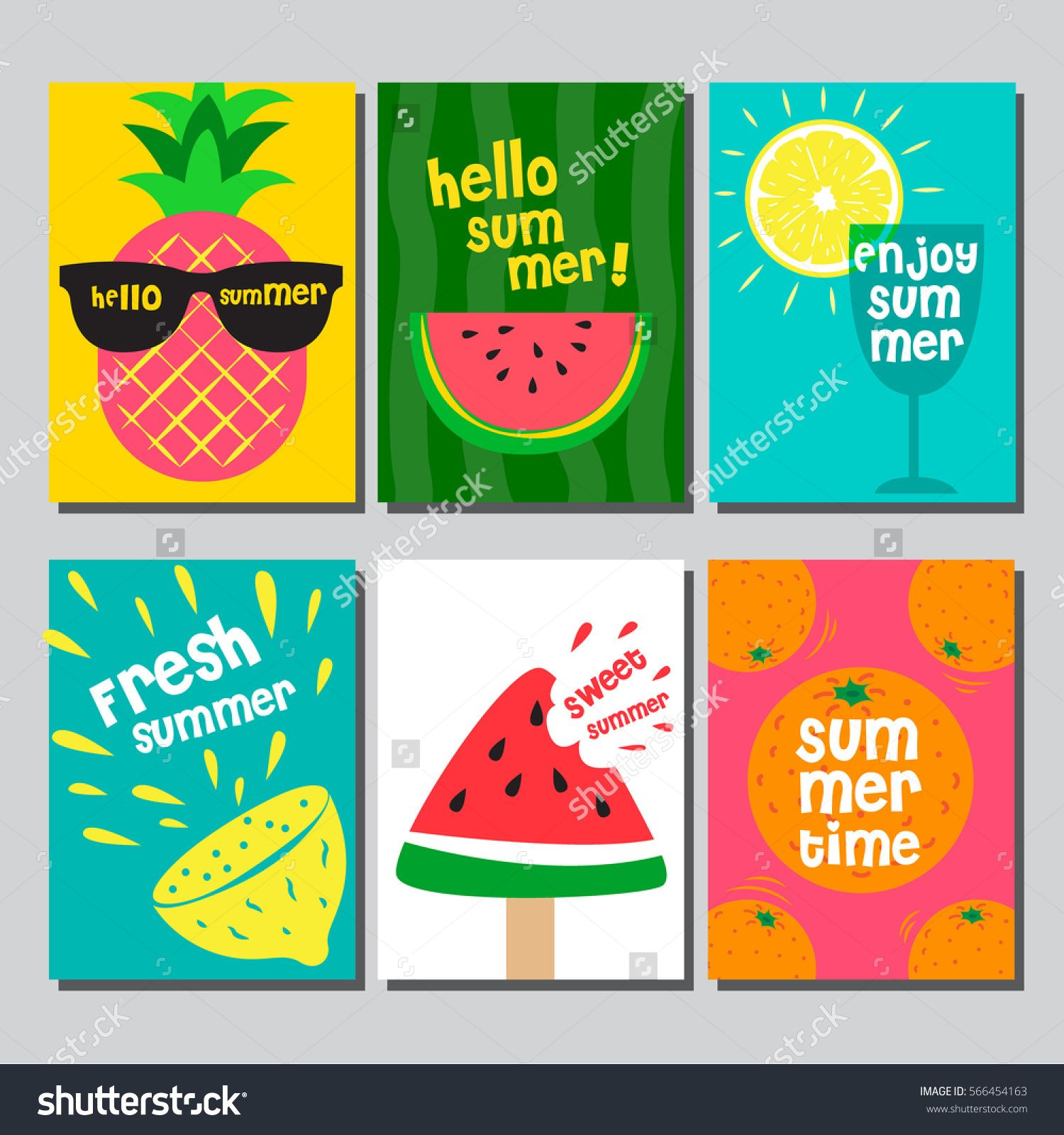 Poster design diy - Summer Layout Design Greeting Card Cover Book Banner Poster Template