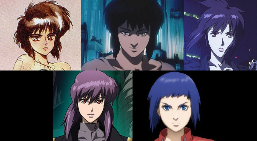 Evolution Of The Major S Designs Gits Ghostintheshell Motokokusanagi Anime Manga Ghost In The Shell Anime Ghost Ghost