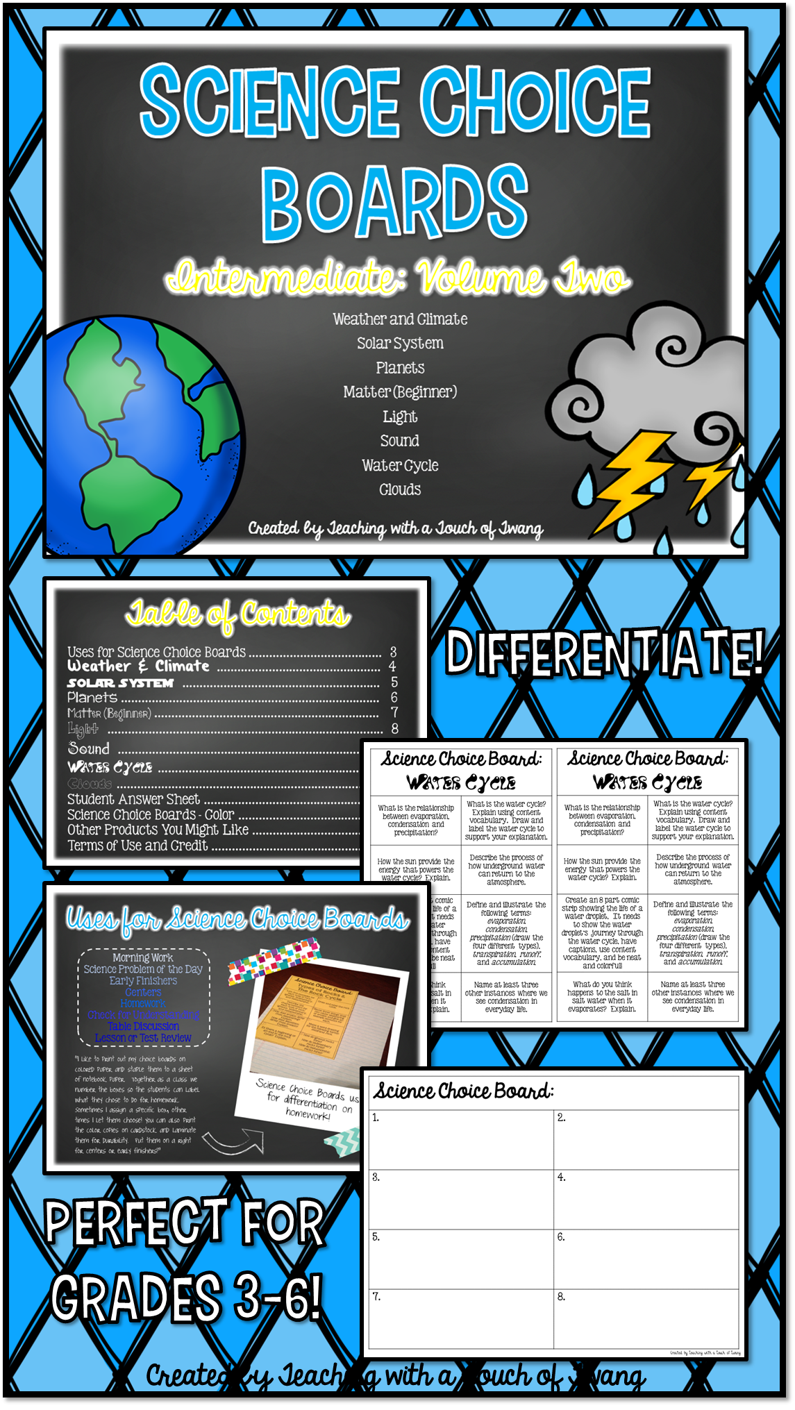 Science Choice Boards Volume Two