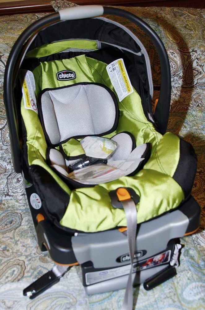 Chicco Keyfit 30 Infant Baby Lime Green Rear Facing Car Seat Base Combo Surge