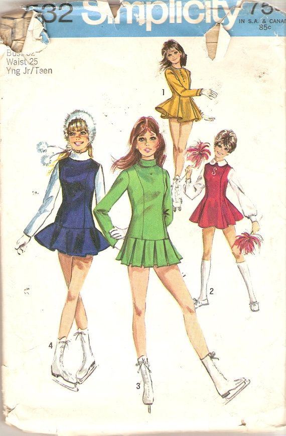 1960s Teens Skating Dress Pattern Cheerleading Dress Pattern