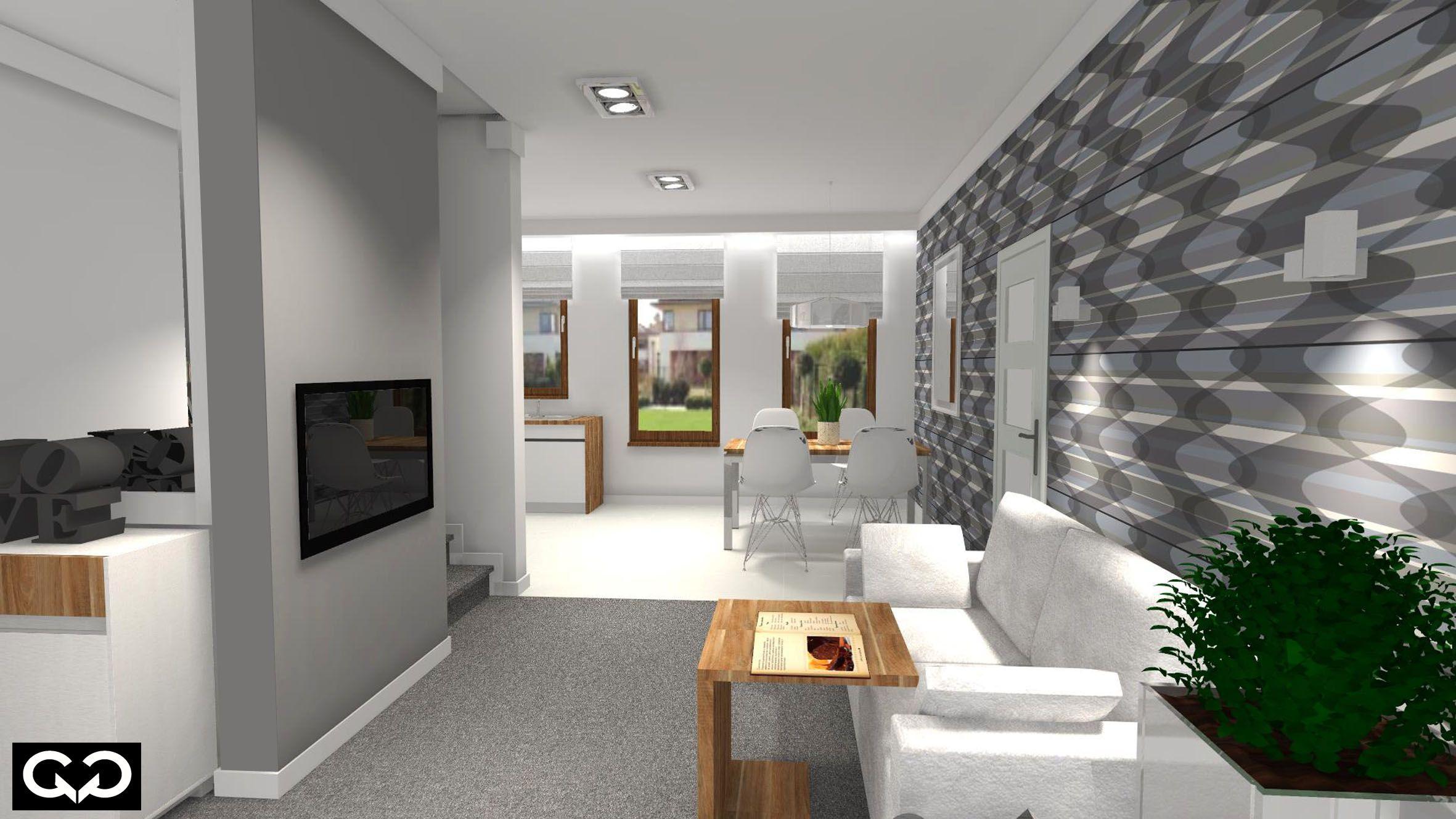 Otwarta kuchnia w bieli hola design homesquare - Nowoczesny Salon Biel I Drewno