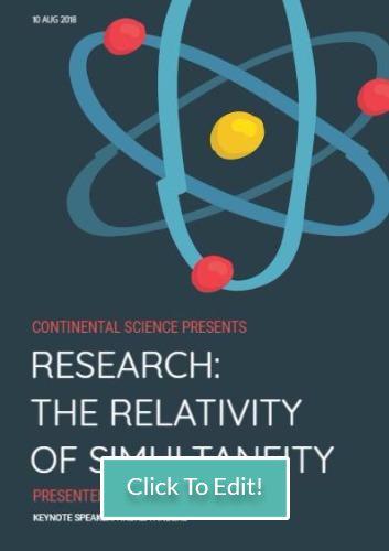 A4 portrait poster format template example edit science scientific
