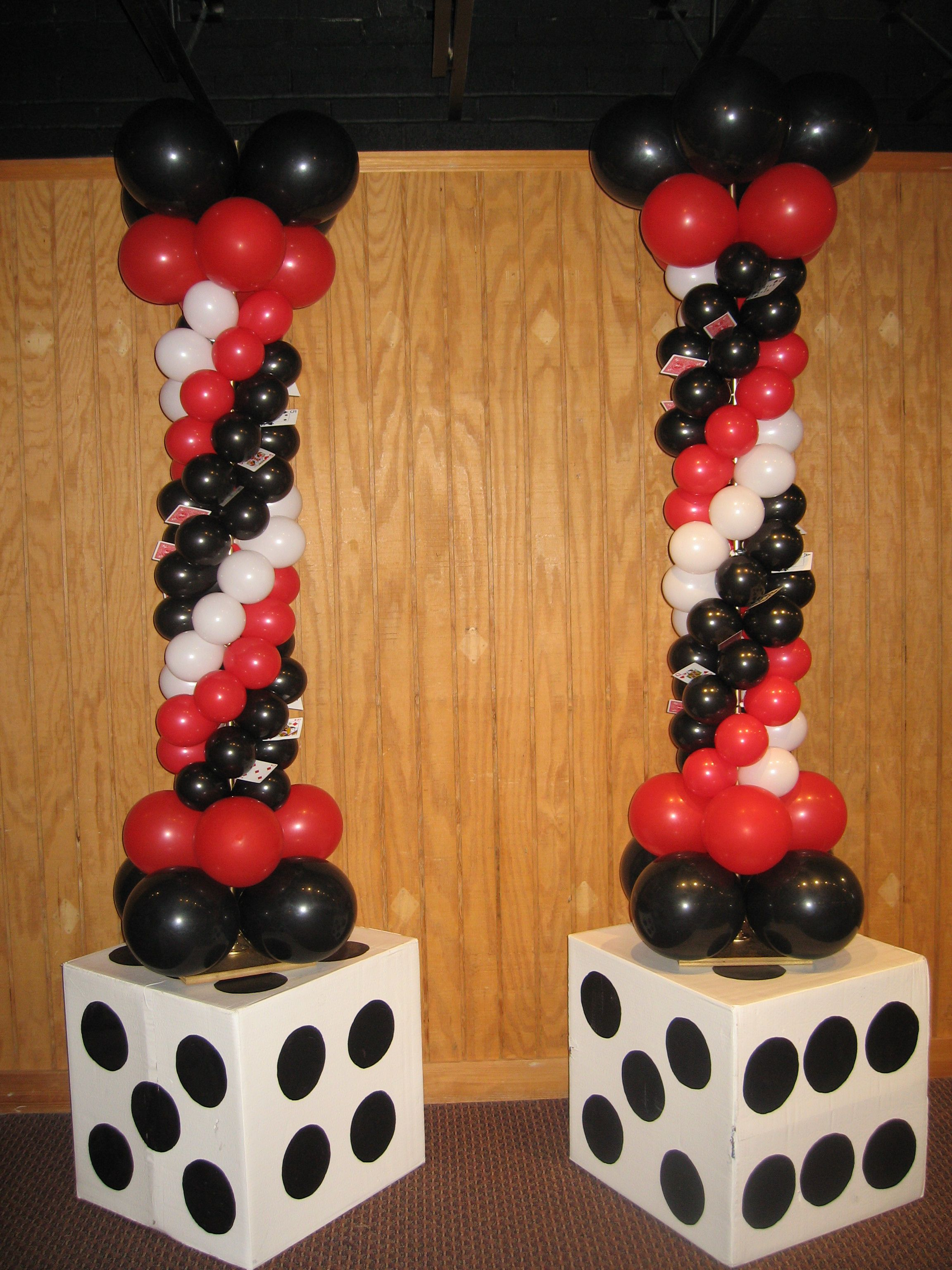 casino prom baltimores best events balloon dcor - Casino Decorations