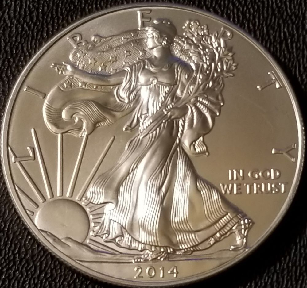 2014 Silver American Eagle 1 Oz Coin 999 Fine Silver Bullion Silver Bullion Coins Silver Bullion Silver Eagle Coins