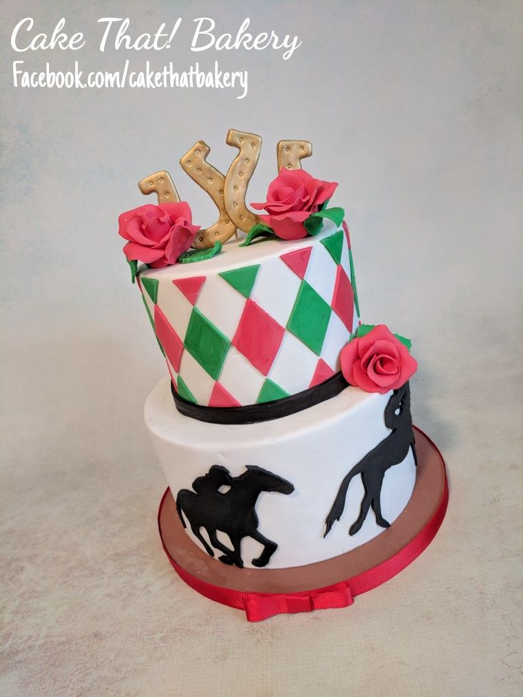 Derby Cake Kentucky Derby Cake Horse Racing Cake With Images