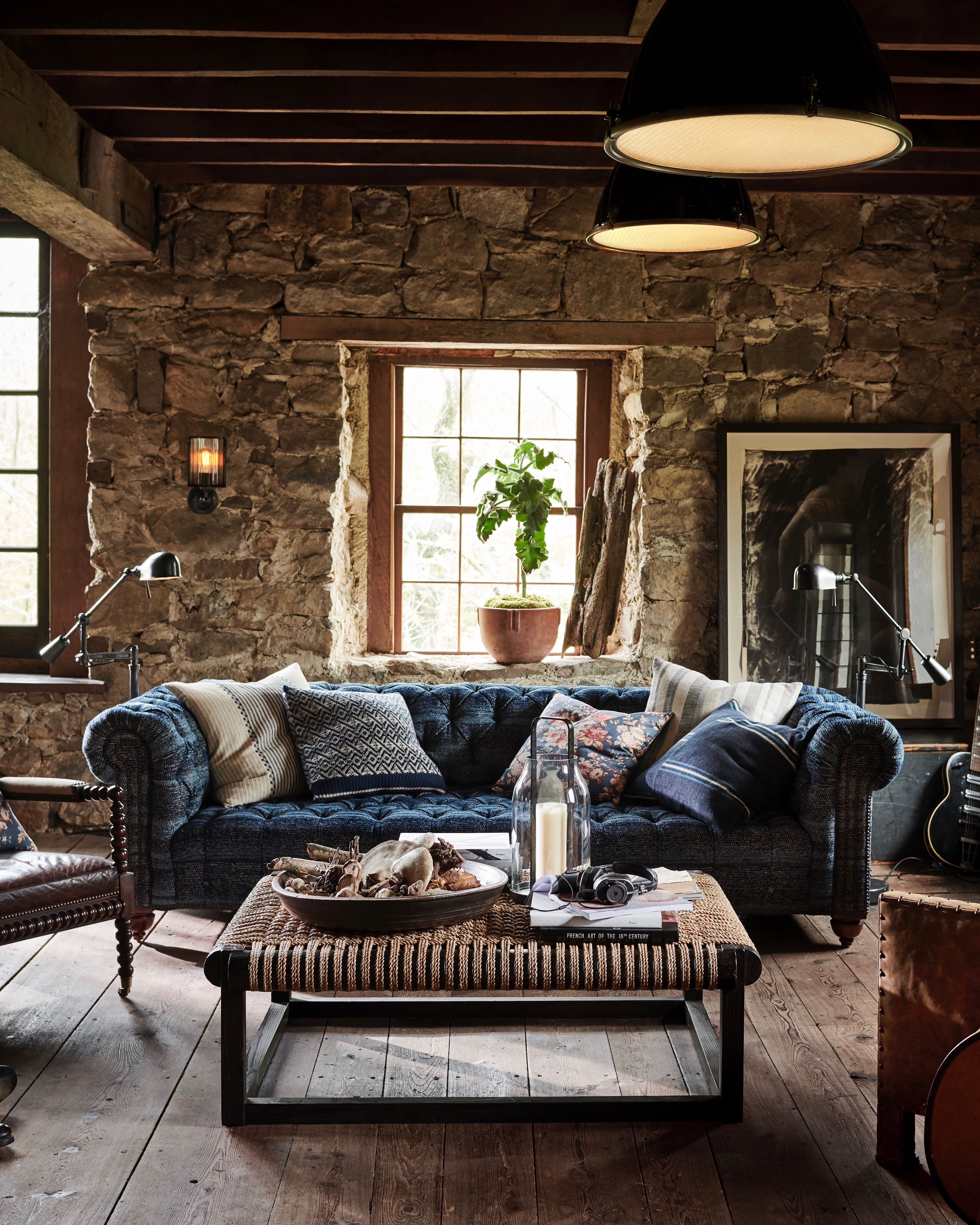 An Eclectic Mix Of Traditional Furnishings Vintage Influences And Artisanal Craftsmanship Inspire A Rusti Home Decor Rustic Home Interiors House Decor Rustic #ralph #lauren #living #room #decor