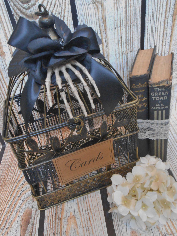 Wedding Birdcage Card Holder Halloween Wedding Gothic Wedding