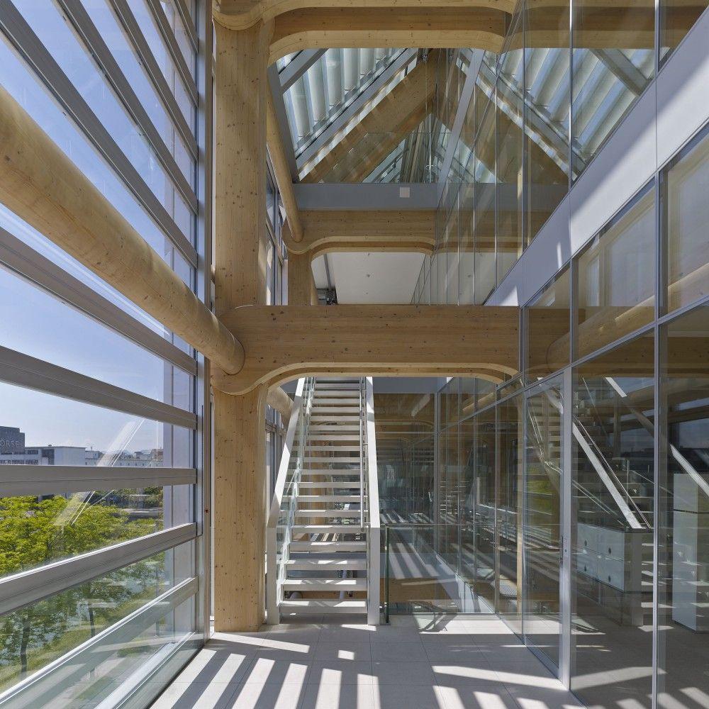 wooden office buildings. Gallery Of Tamedia Office Building / Shigeru Ban Architects - 13 Wooden Buildings U
