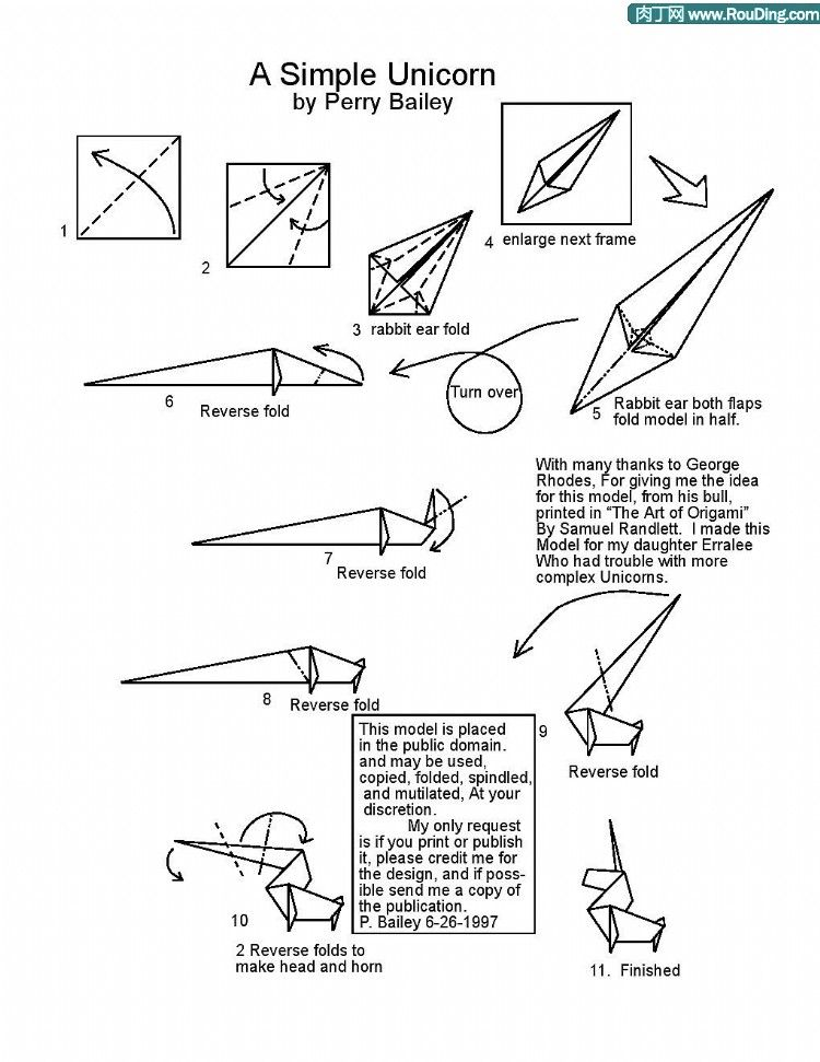 Photo of How To Make Origami Unicorn Diagram