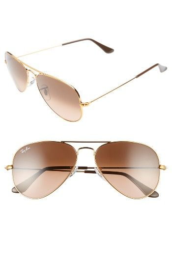 14c7c9d524 Free shipping and returns on Ray-Ban Original 55mm Small Aviator Sunglasses  at Nordstrom.com. Sleek metal aviator sunglasses with slender temples  feature ...