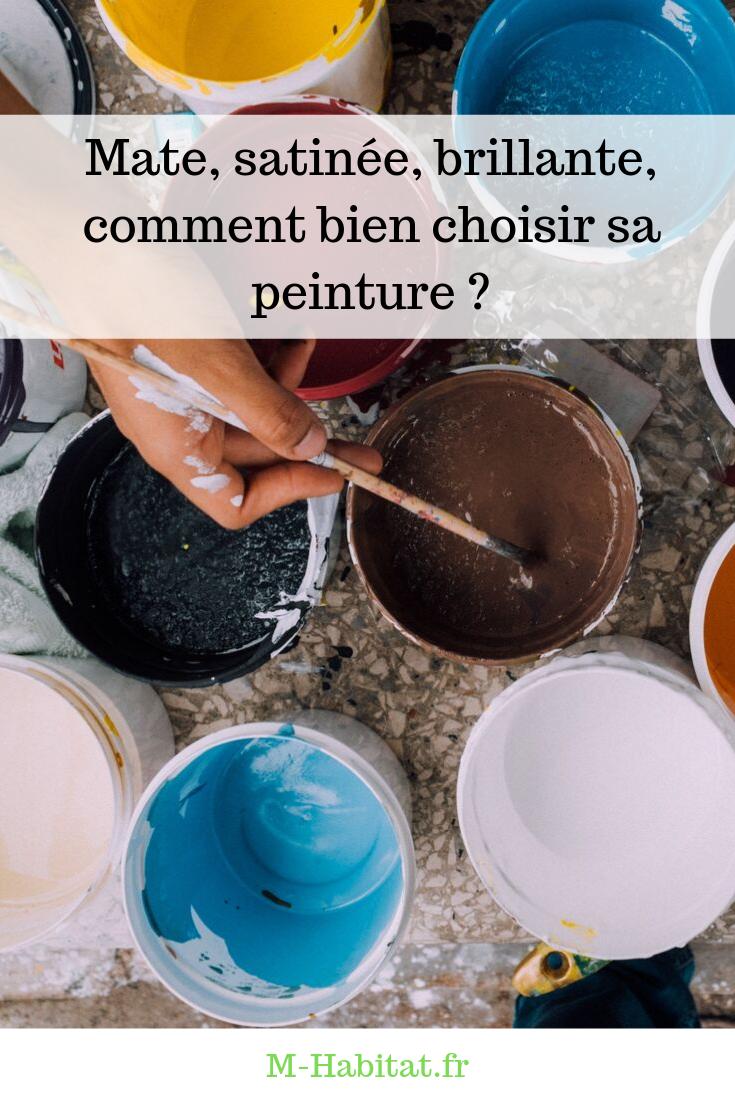 Choisir Peinture Mat Ou Satinée en matière de décoration, différents types de peintures