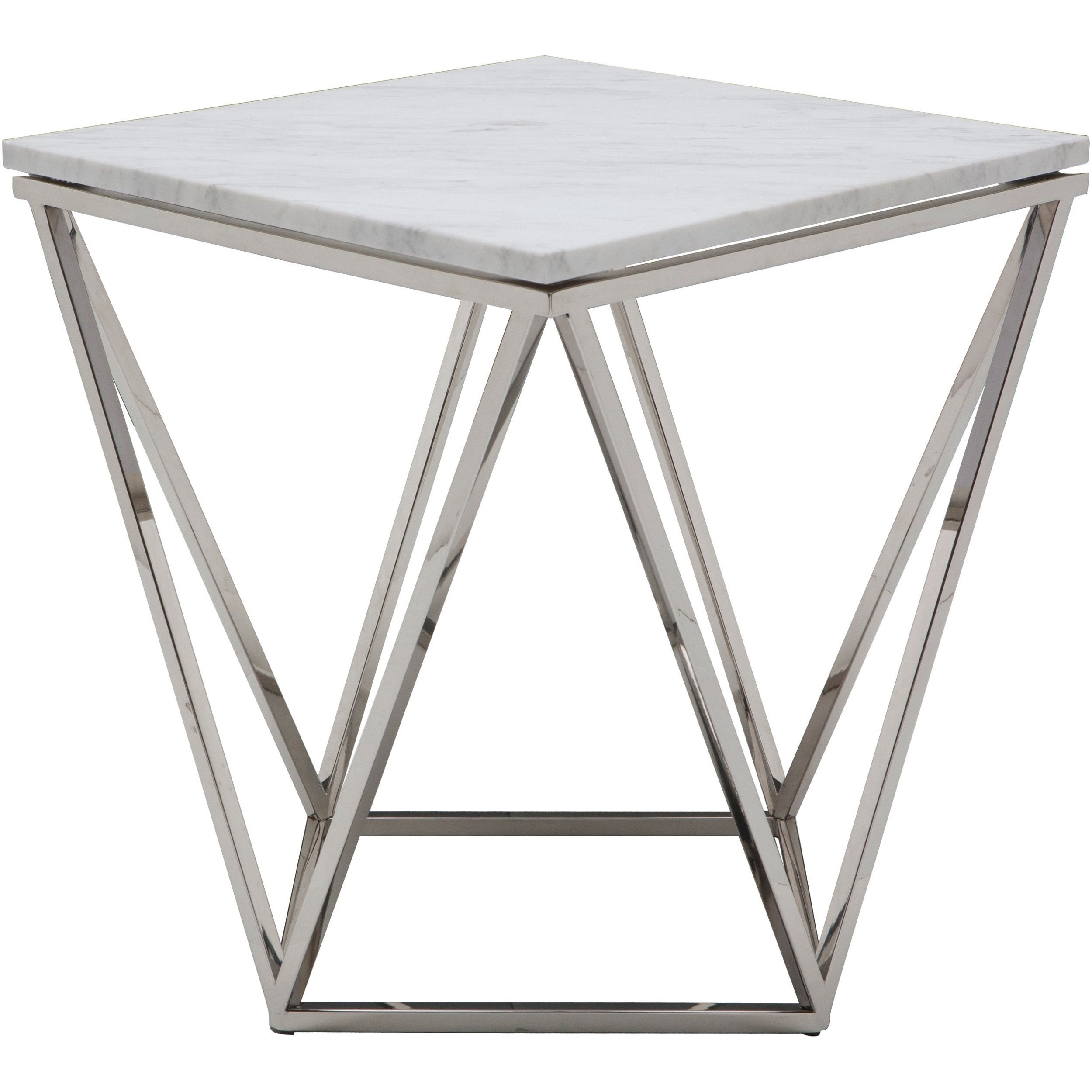 Monarch Specialties Chrome Metal Edgeside Accent Table In Glossy White Reviews Home Macy S V 2020 G Pridivannye Stoly Metallicheskaya Mebel Mebel Iz Stali