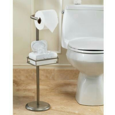 Bed Bath Toilet Paper Stand Toilet Paper Holder Stand Adjustable Shelving