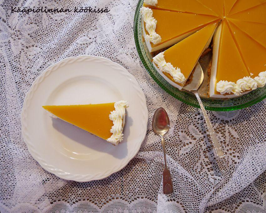 Kääpiölinnan köökissä: Mangojuustokakku (gluteeniton ja laktoositon)