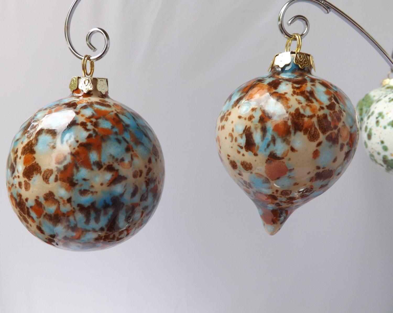 Ceramic christmas ornaments - Ceramic Christmas Ornaments Handmade Christmas Ornaments One Of A Kind From My Charleston Sc Studio
