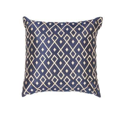 Kas Rugs Sweet Diamonds Gold and Navy Geometric Hypoallergenic Polyester 12 in. x 20 in. Throw Pillow-PILL20320SQ - The Home Depot