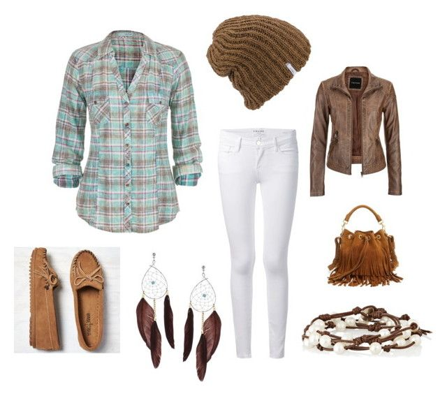 """""""Untitled #57"""" by sadiearnold on Polyvore featuring maurices, Frame Denim, Minnetonka, Coal, Yves Saint Laurent, Topshop and Chan Luu"""