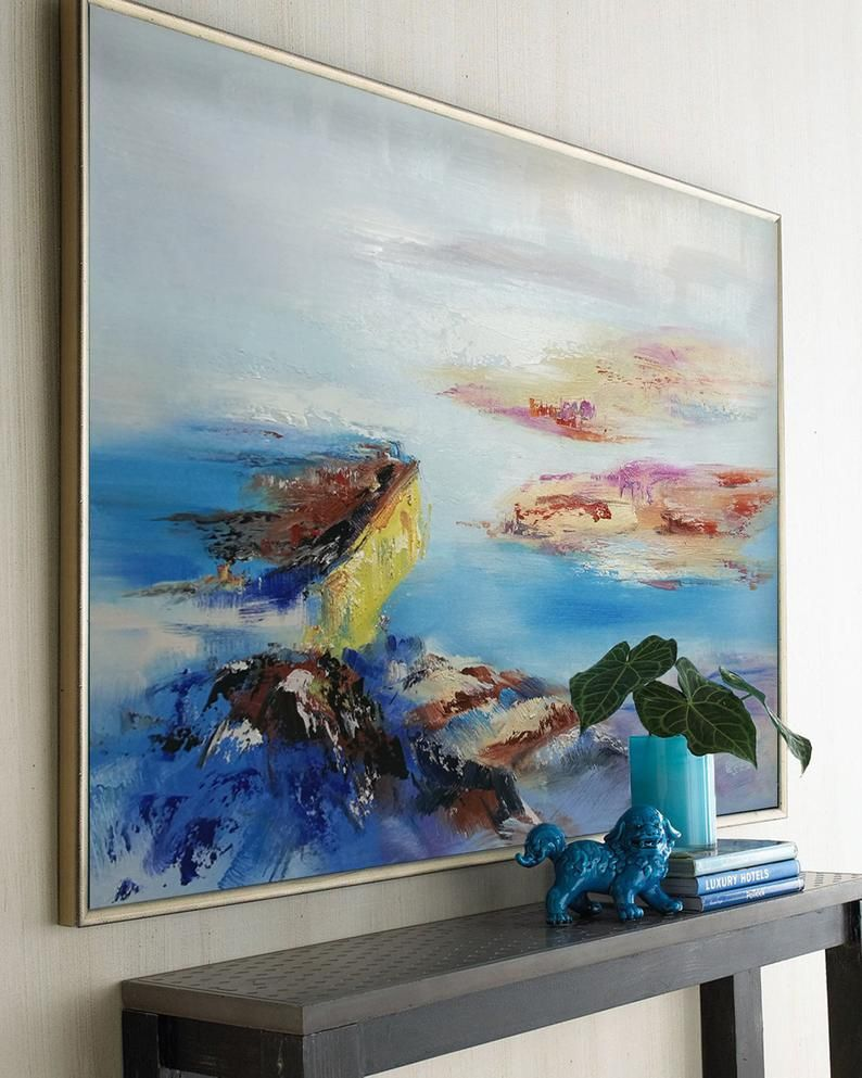 Modern Abstract Painting Bedroom Large Wall Art Large Oil