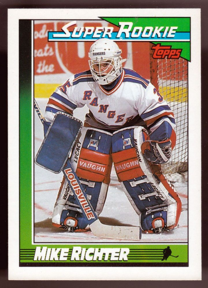 NEW YORK RANGERS 1991 TOPPS SUPER ROOKIE MIKE RICHTER NMMT CONDITION #NewYorkRangers