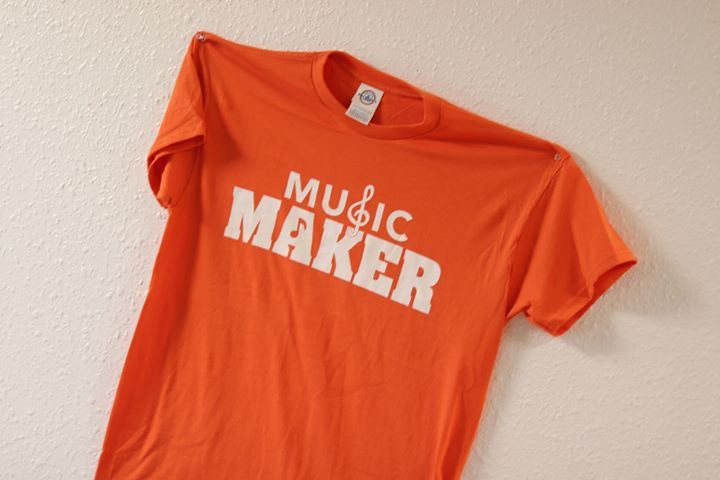 Drop by and pick up a few of our Music Maker TShirts 12 for 1 or 2 for just 20  Tag 3 friends