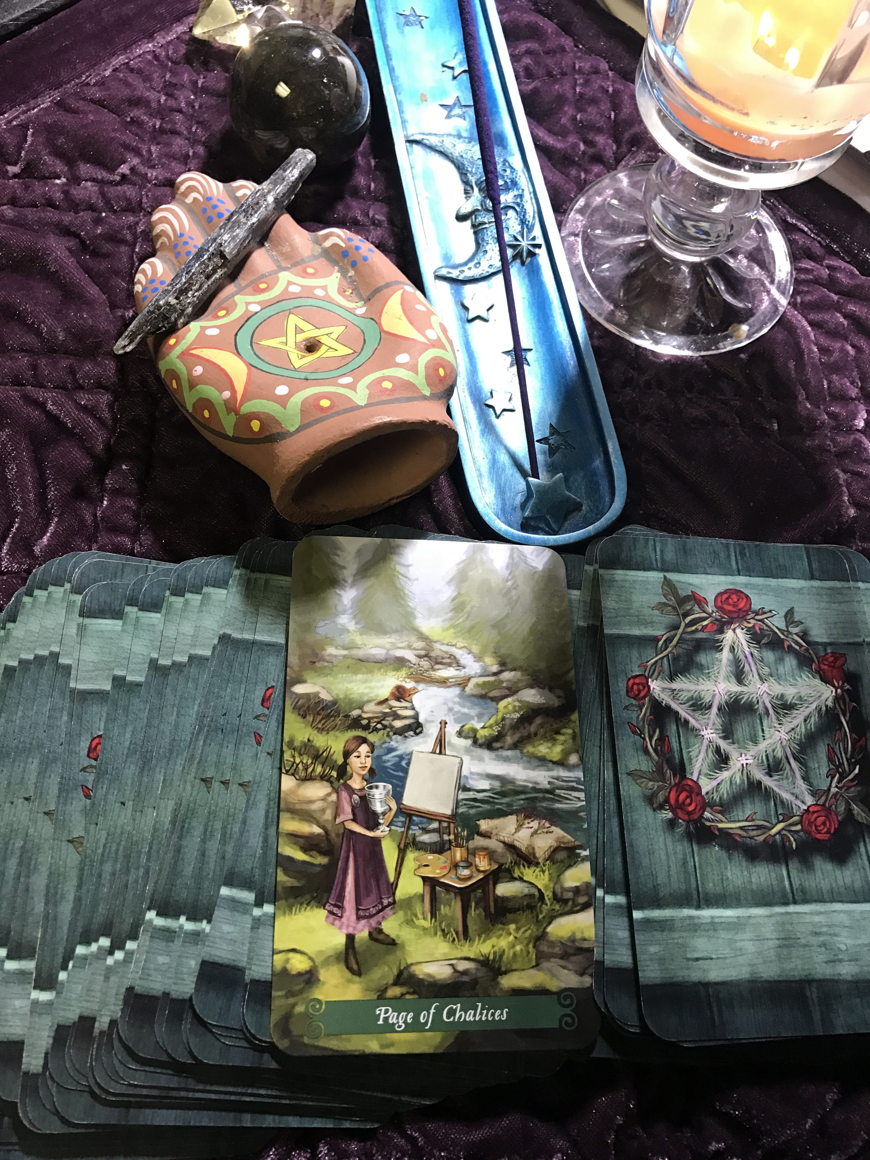 Daily card pull page of chalices be inspired flow with