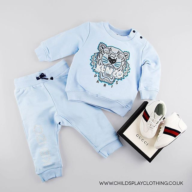 fece4e515 How Cute Is This! 💙 Baby Kenzo Tracksuit and Gucci Pre Walker Boots ...