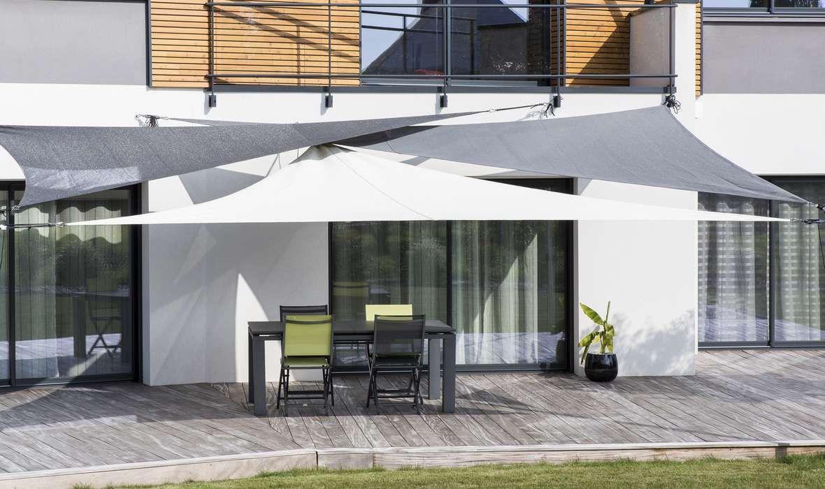 Fixation Voile D Ombrage 3 triángulos australe 340 en 2019 | ideas | patio shade